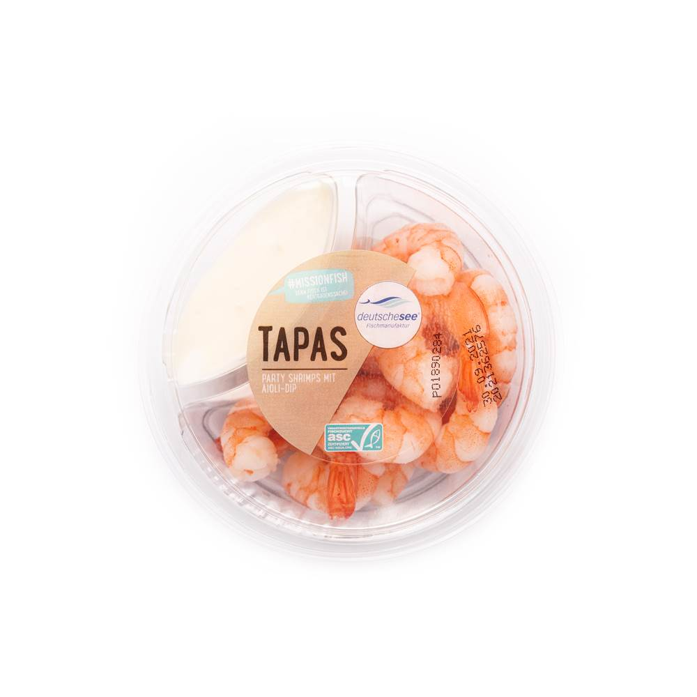Tapas - Party Shrimps mit Aioli-Dip