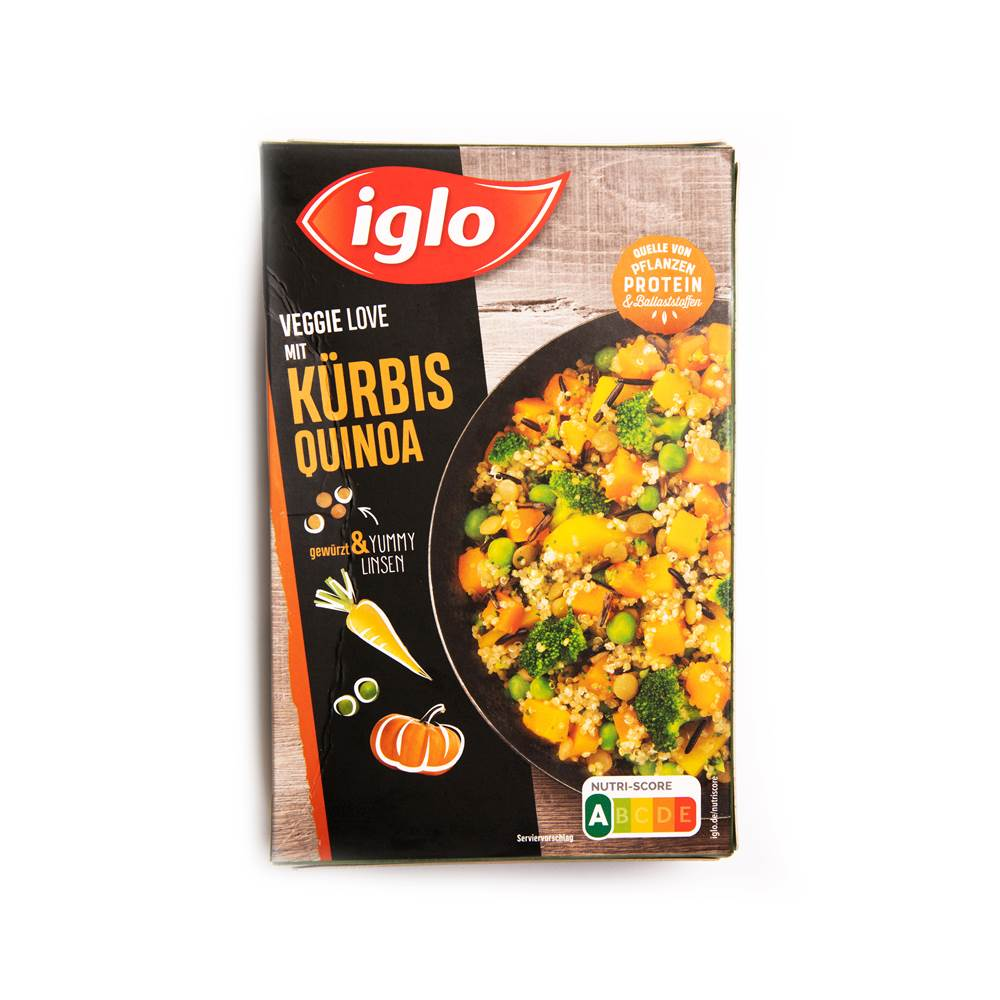 Iglo Veggie Love mit Kürbis Quinoa