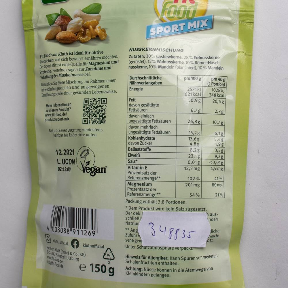 Buy Kluth Fit Food Sport Mix in Berlin with delivery