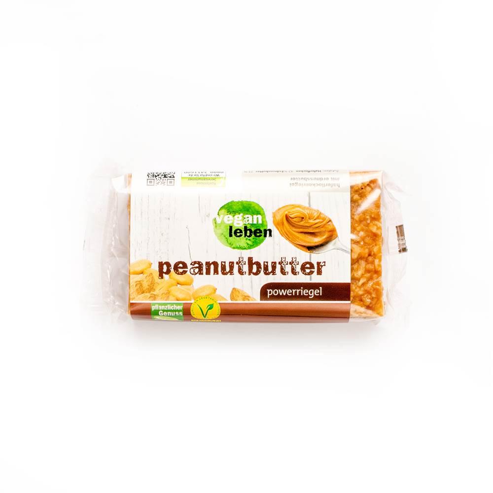 Vegan Leben Powerriegel Peanutbutter