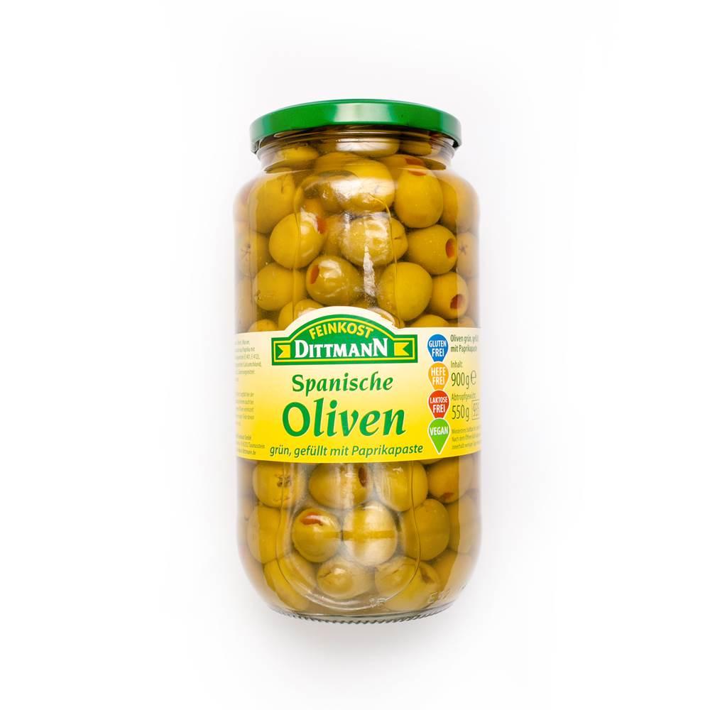 Oliven mit Paprikapaste