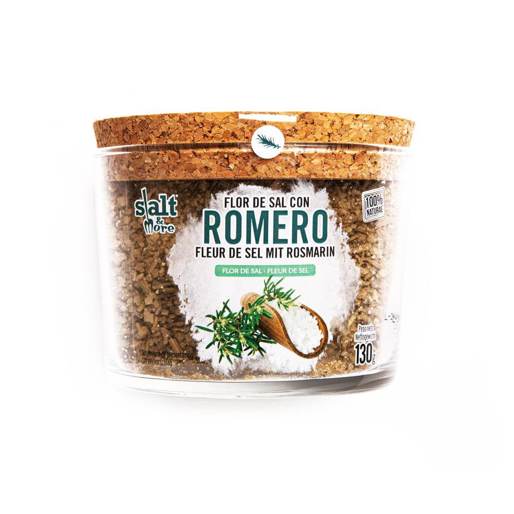 Salt & More Flor De Sal Con Romero
