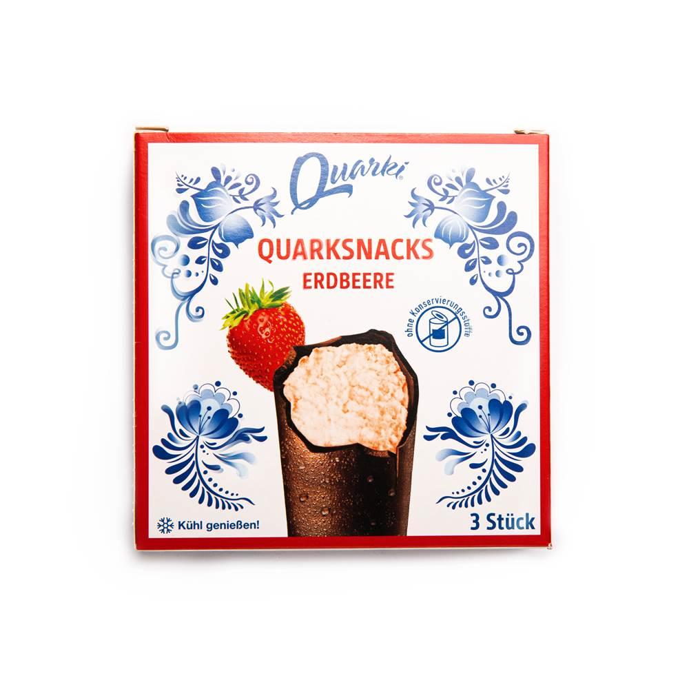 Quarki Quarksnacks Erdbeere