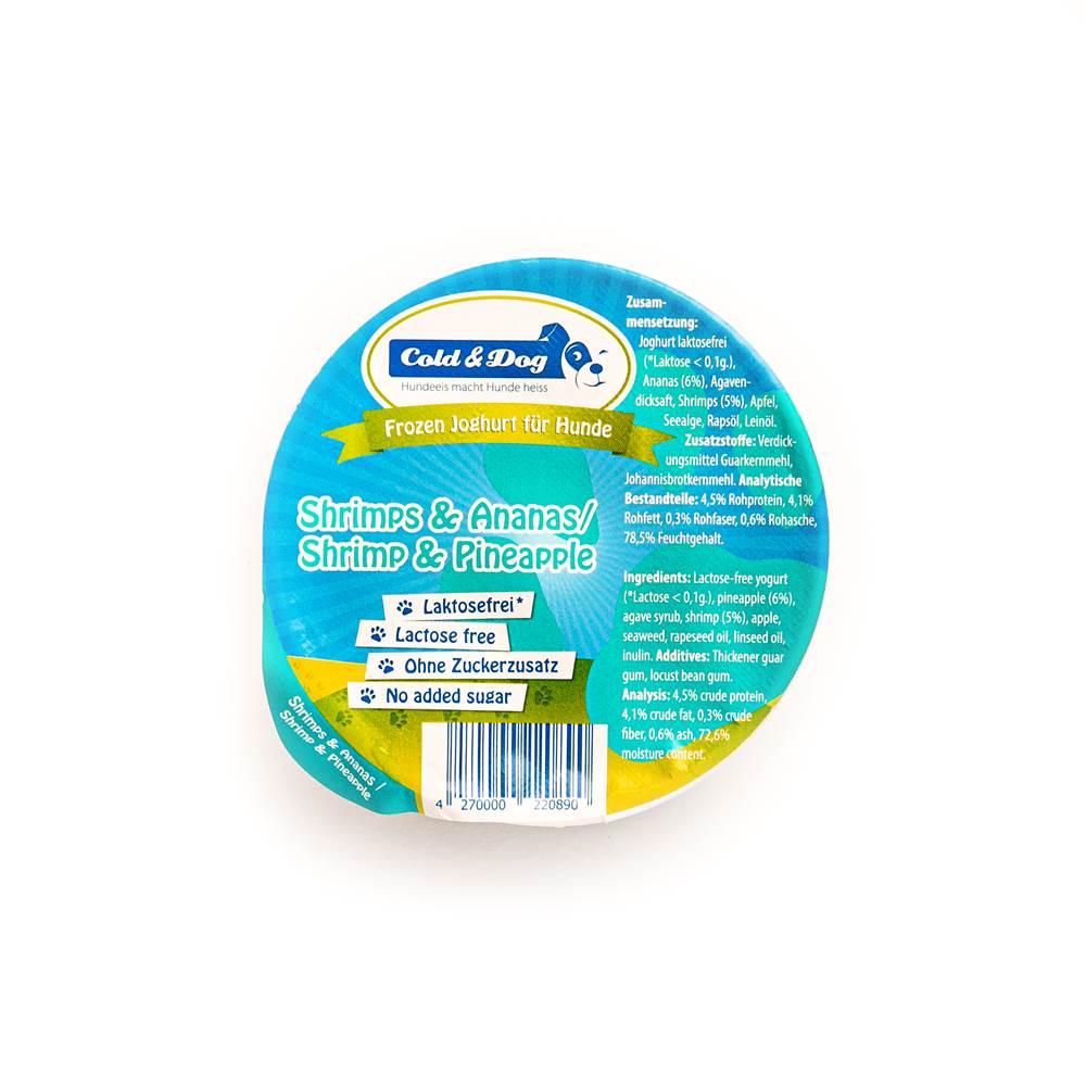 Cold & Dog Frozen Joghurt mit Scampi & Ananas