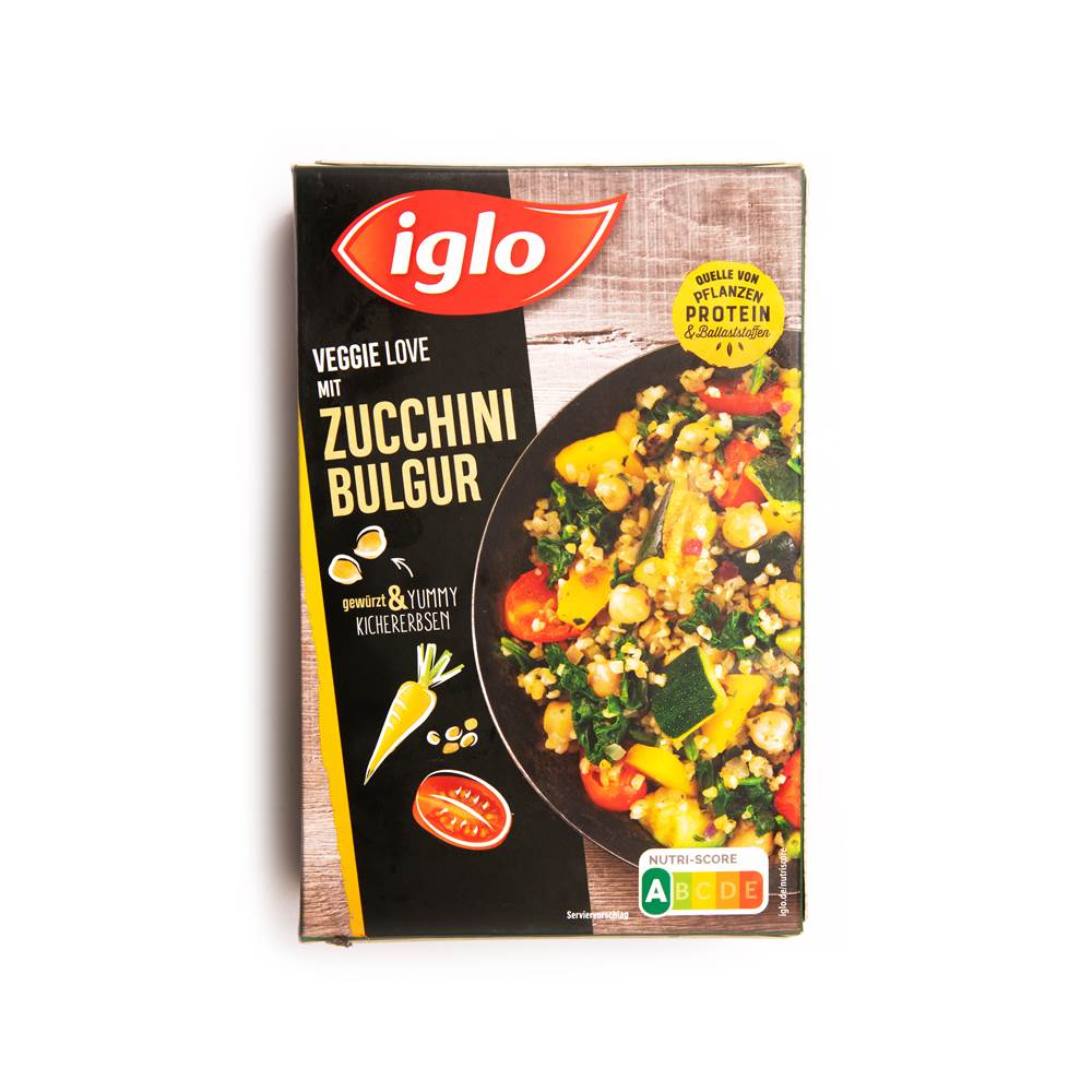 Iglo Veggie Love mit Zucchini Bulgur