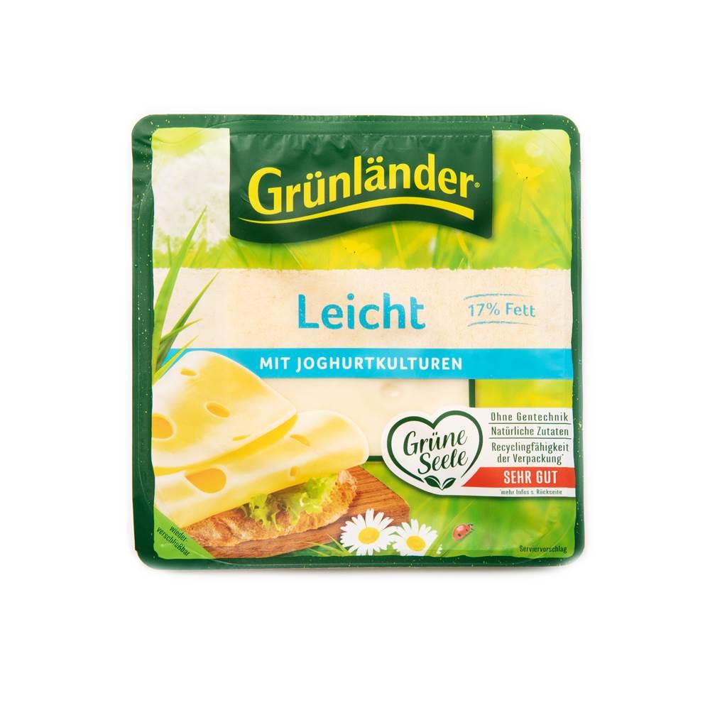Grünländer Käse Leicht Scheiben