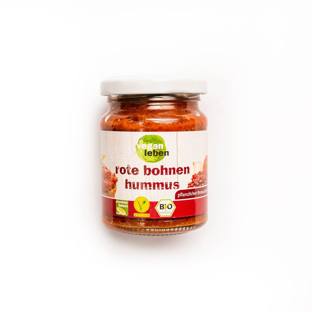 Vegan Leben Brotaufstrich Rote Bohnen Hummus