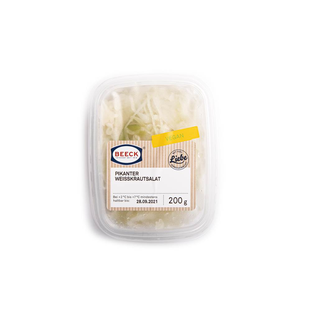 Pikanter Weißkrautsalat