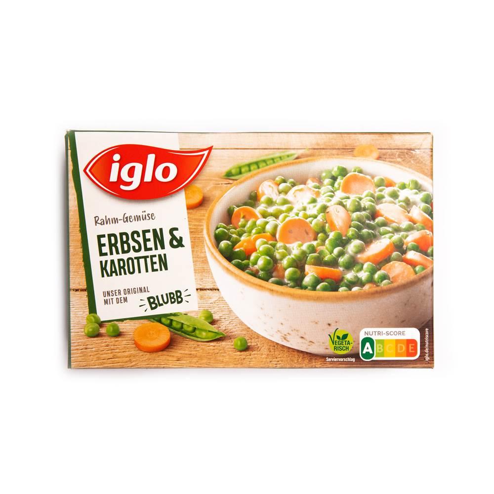 Iglo Rahm-Gemüse Erbsen & Karotten