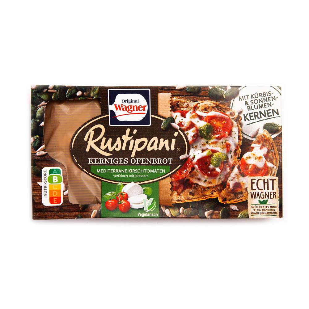 Original Wagner Rustipani Kerniges Ofenbrot Mediterrane Kirschtomaten