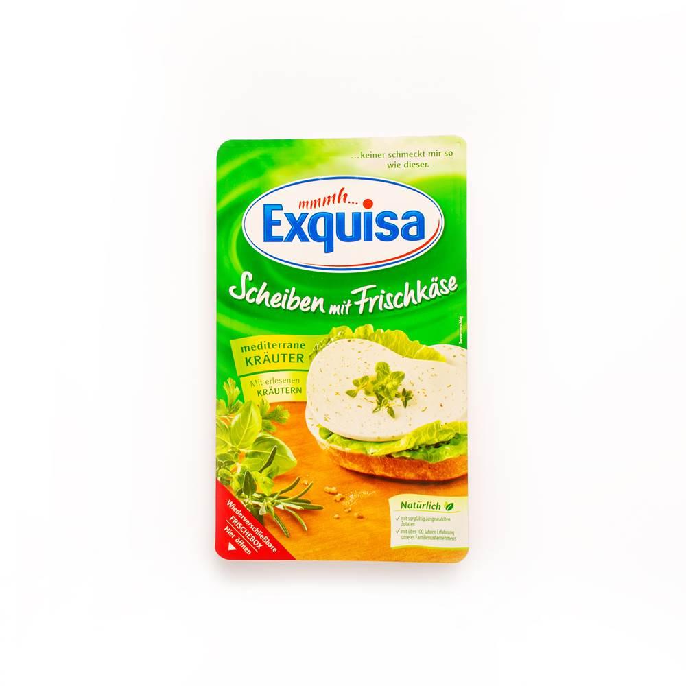 Exquisa Frischkäse-Scheiben, mediterrane Kräuter