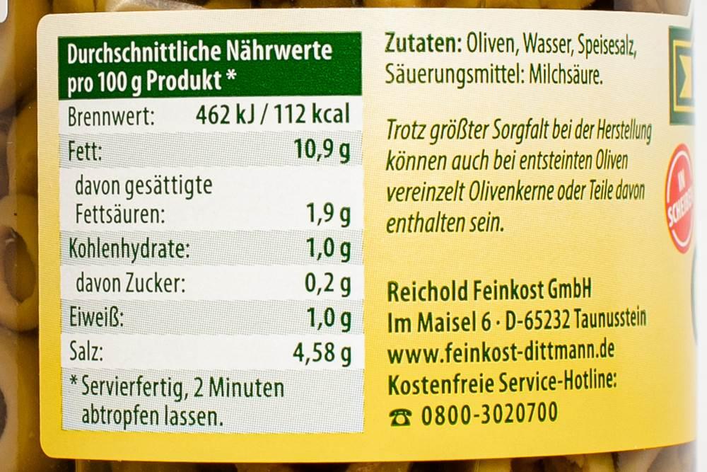 Buy Feinkost Dittmann Grüne Oliven in Scheiben in Berlin with delivery