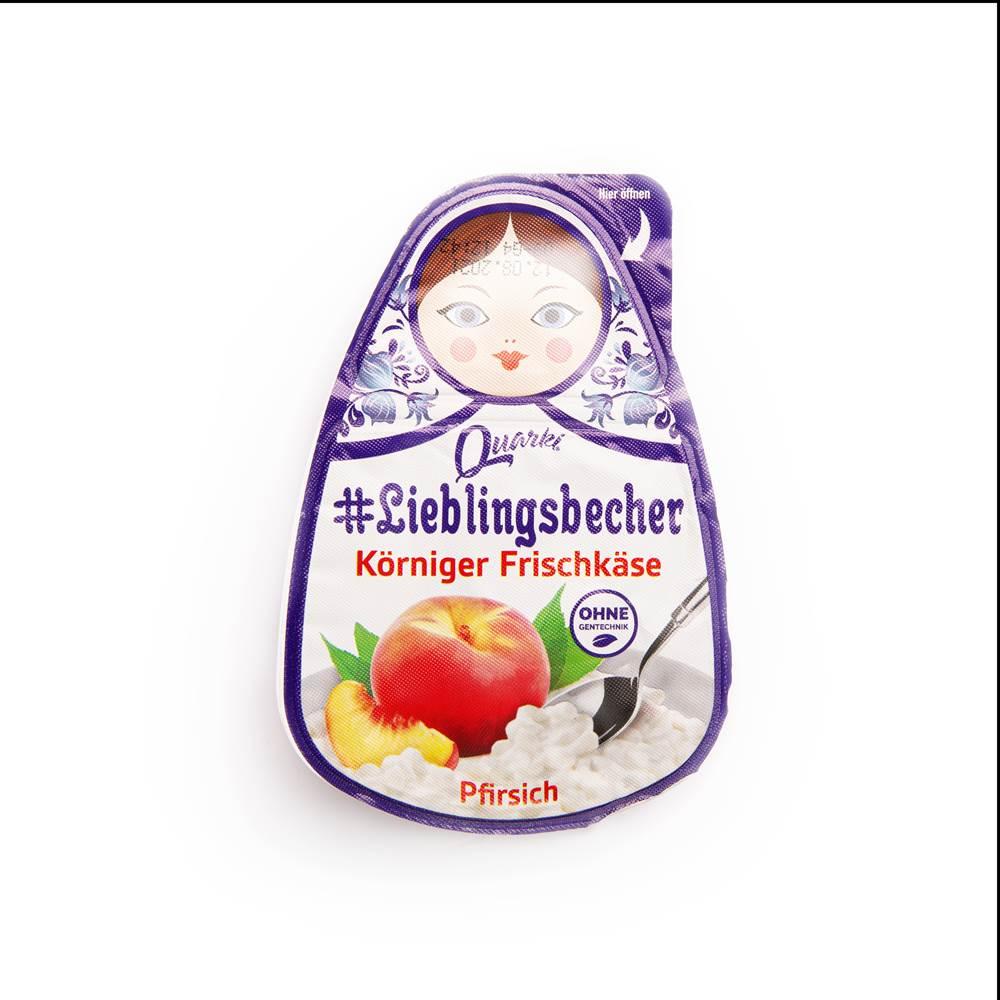 Quarki Körniger Frischkäse Pfirsich