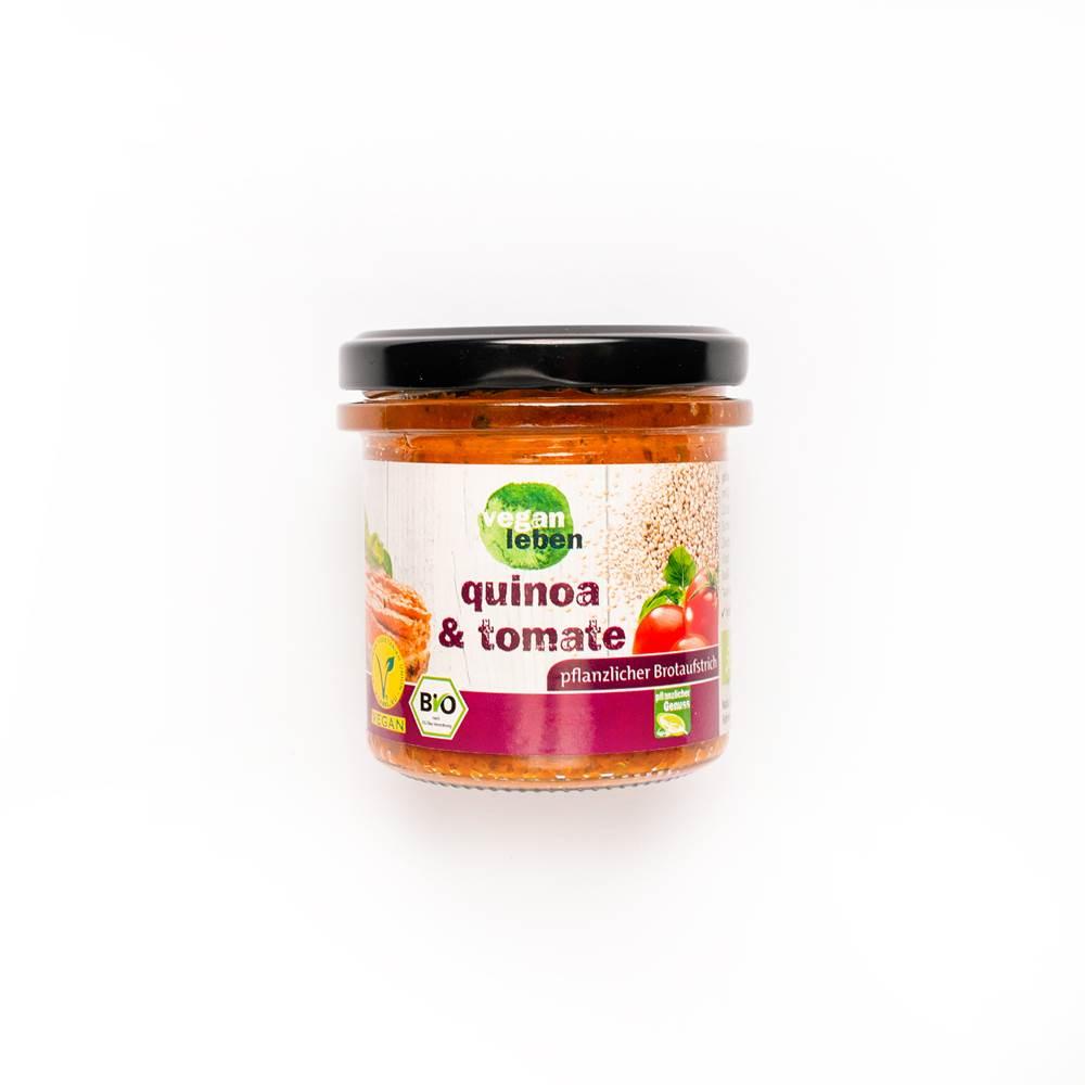Vegan Leben Brotaufstrich Quinoa & Tomate