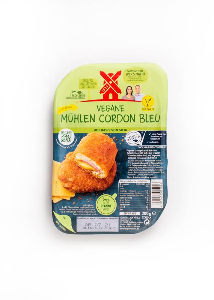 Rügenwalder Mühle Vegane Mühlen Cordon Bleu