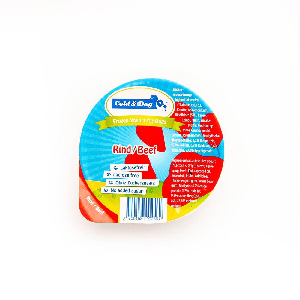 Cold & Dog Frozen Joghurt mit Rind
