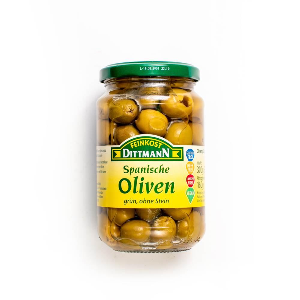 Feinkost Dittmann Spanische Oliven grün, ohne Stein
