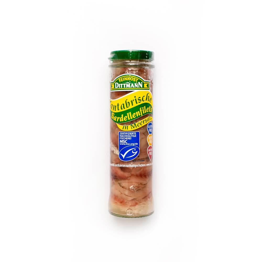 Feinkost Dittmann Kantabrische Sardellenfilets in Salz