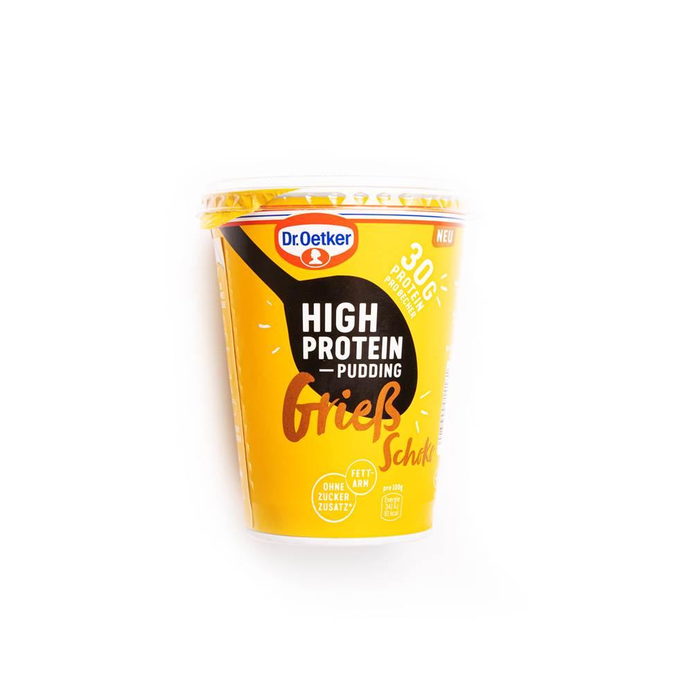 Dr. Oetker High Protein Pudding Grieß Schoko