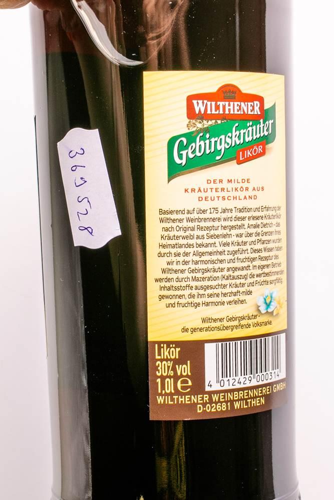 Buy Wilthener Gebirgskräuter Likör 30% in Berlin with delivery