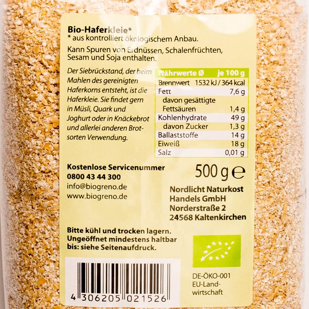 Buy Biogreno Bio Haferkleie in Berlin with delivery