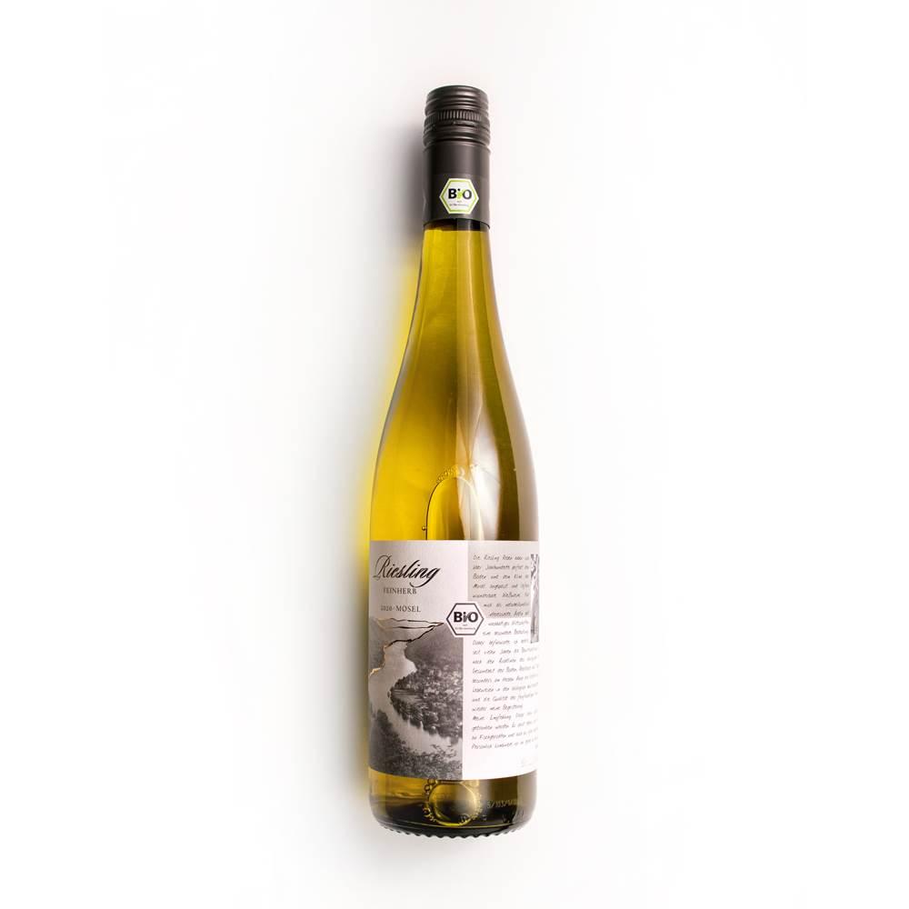 Bio mit Gesicht Weißwein Riesling feinherb Qualitätswein von der Mosel