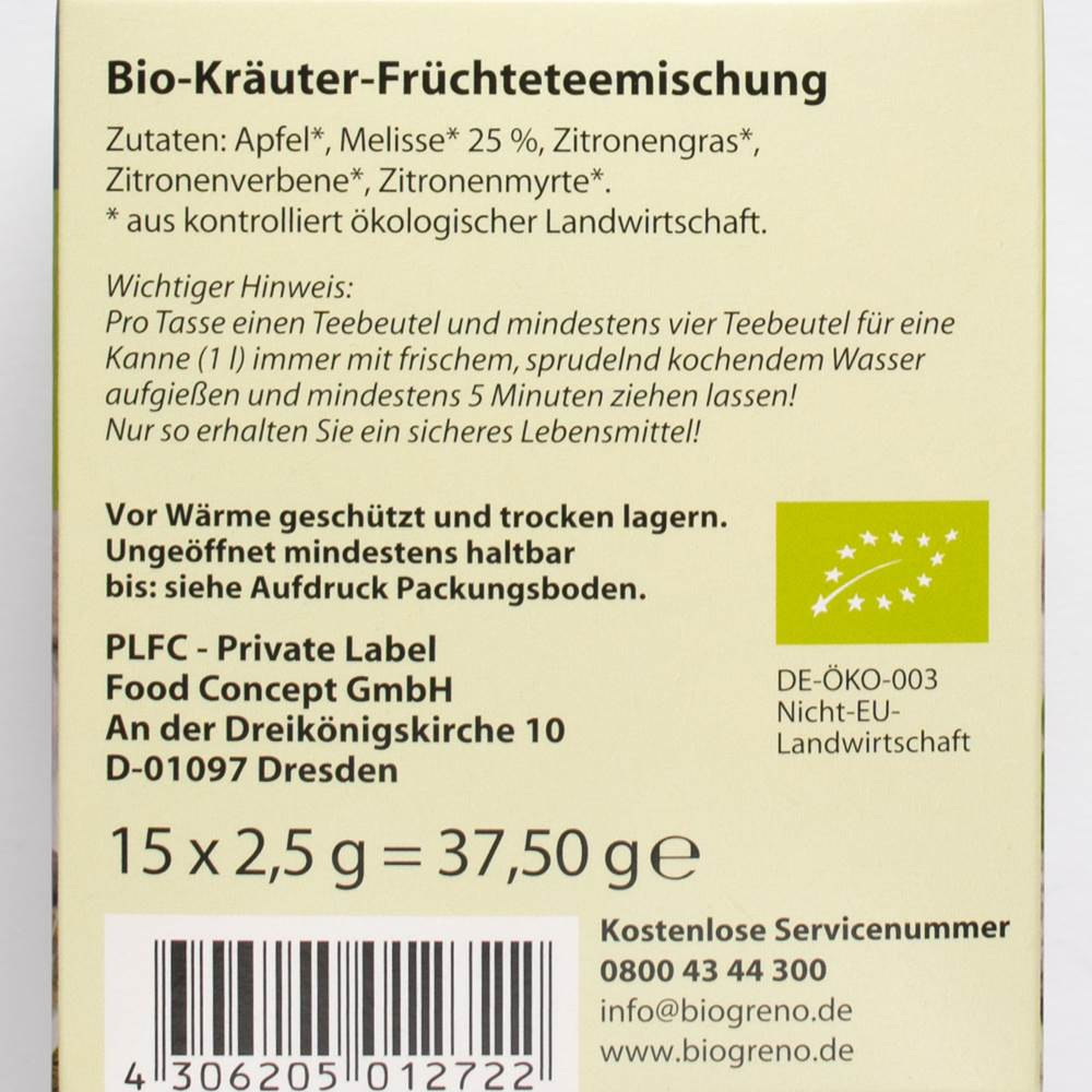 Buy Biogreno Bio Kräuter Tee in Berlin with delivery