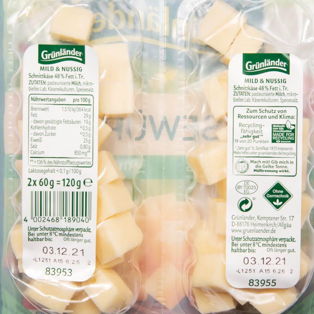 Buy Grünländer Käsewürfel Mild & Nussig in Berlin with delivery