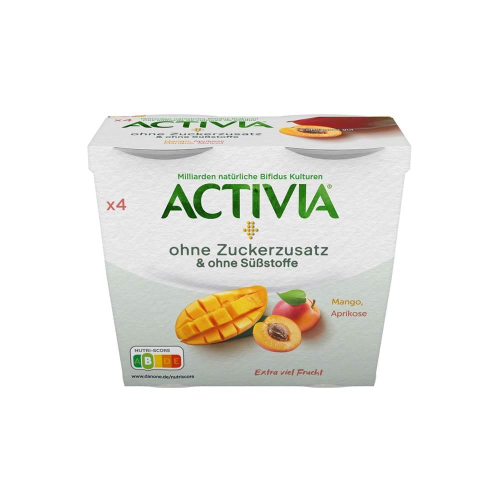 Danone Activia Mango, Aprikose ohne Zuckerzusatz