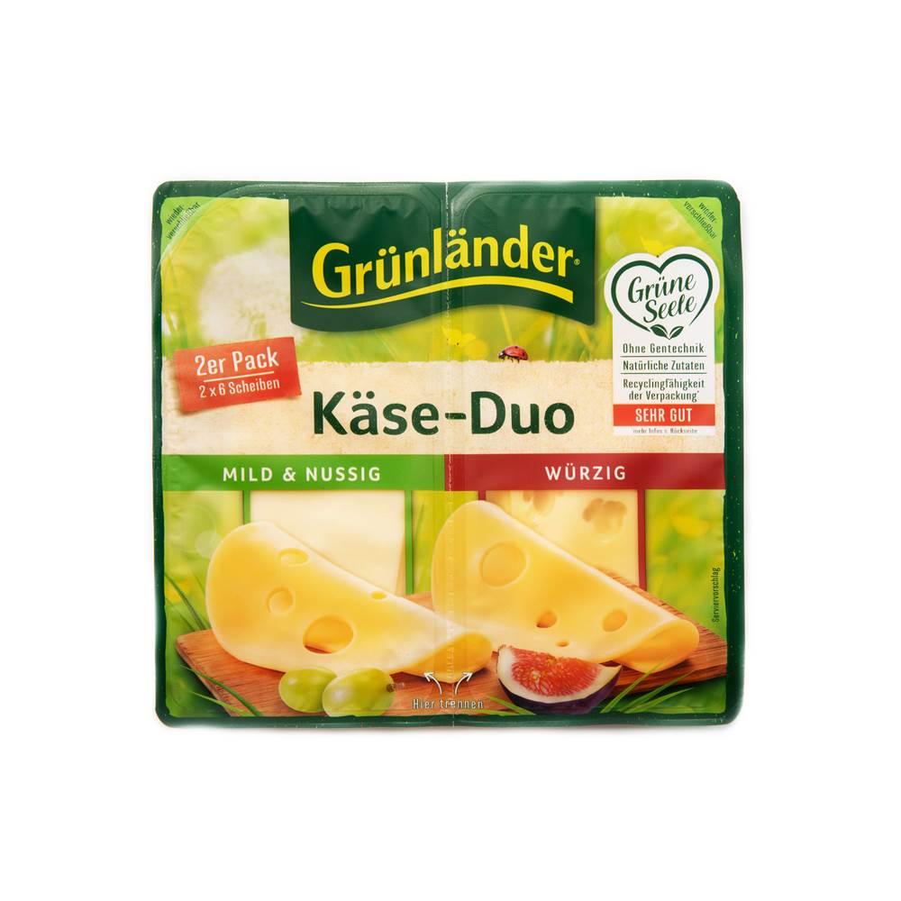 Grünländer Käse-Duo Scheiben