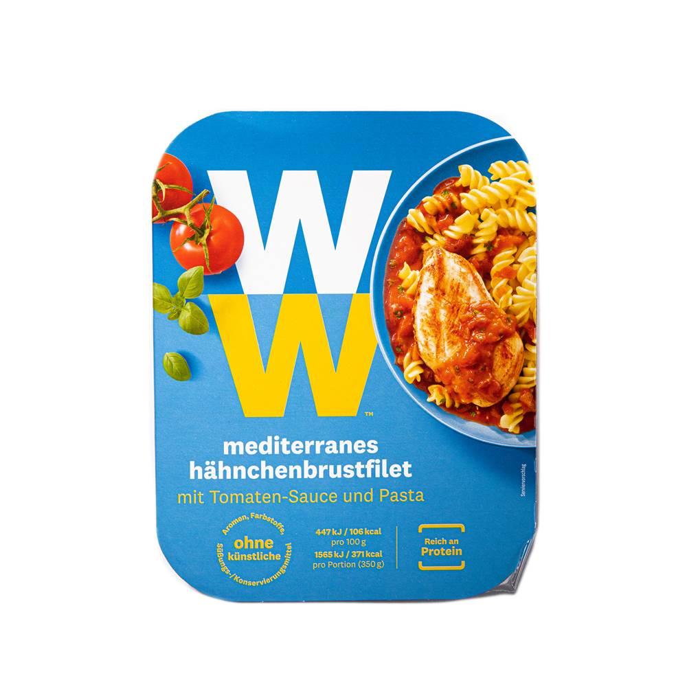 Weight Watchers Mediterranes Hähnchenbrustfilet mit Tomatensauce & Pasta