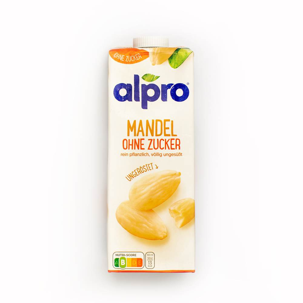 Alpro Mandel Drink ohne Zucker ungeröstet