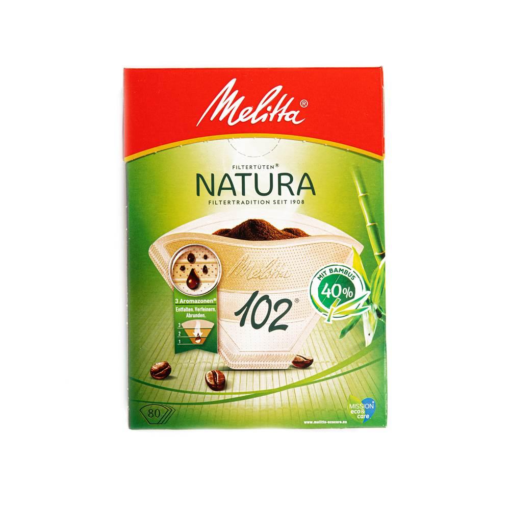Melitta Premium Filtertüten Natura 102 aus 60% Bambus