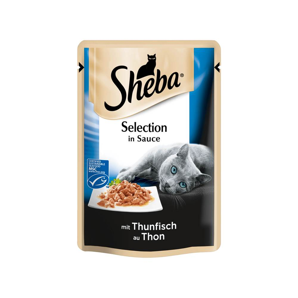 Sheba Selection in Sauce mit Thunfisch