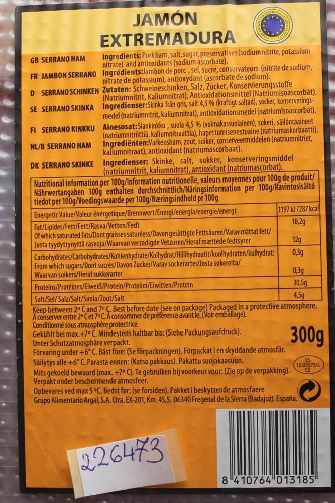Buy Argal Jamón Serrano Extremadura in Berlin with delivery